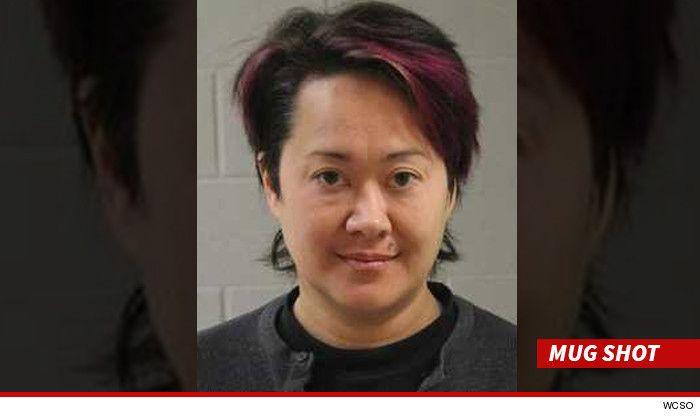 Legendara actrita porno Asia Carrera a fost prinsa beata la volan