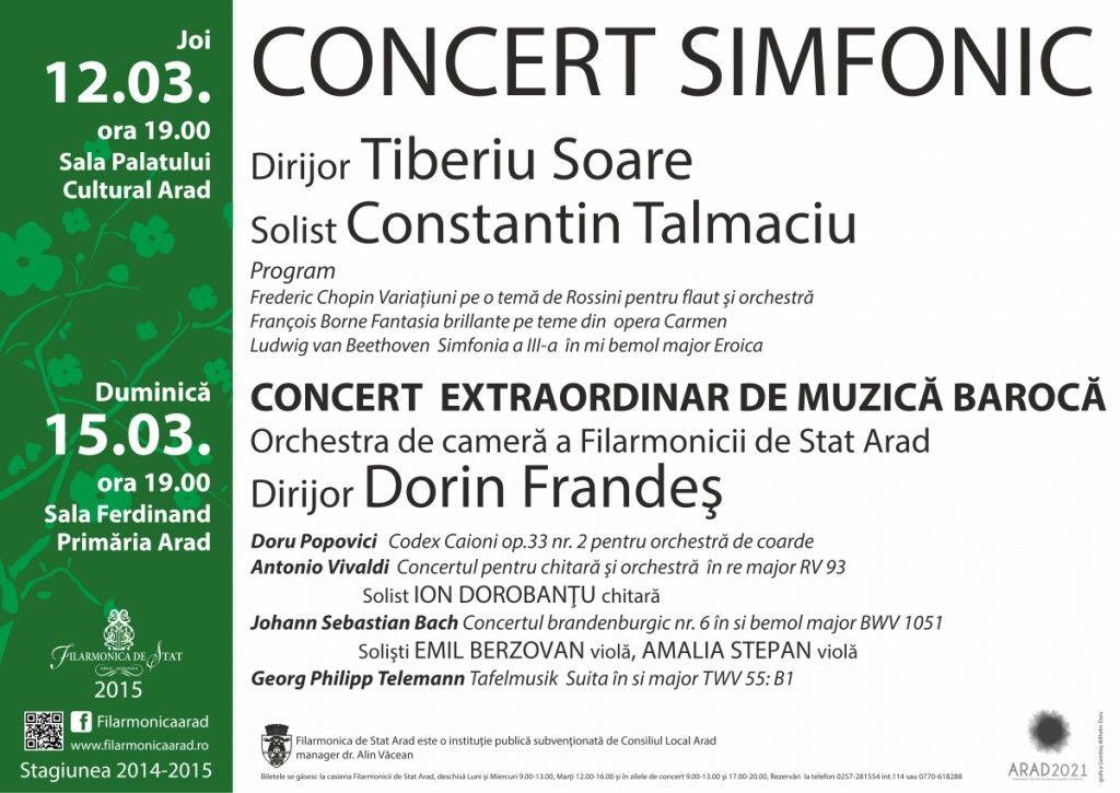 Concert simfonic sub bagheta maestrului Tiberiu Soare