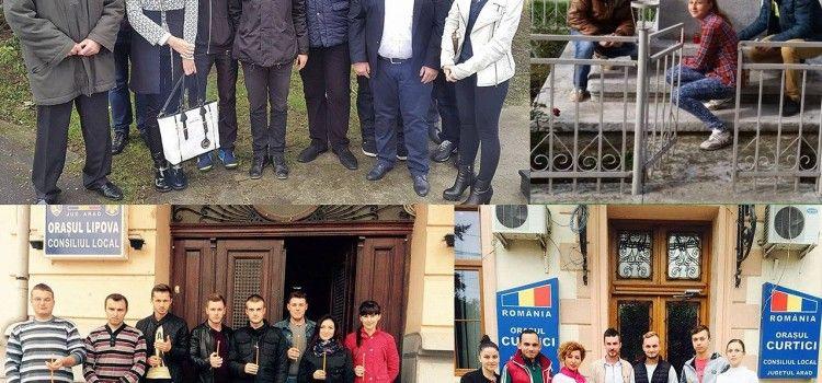 TINERII SOCIAL-DEMOCRATI ARADENI AU APRINS CANDELE IN MEMORIA VICTIMELOR HOLOCAUSTULUI