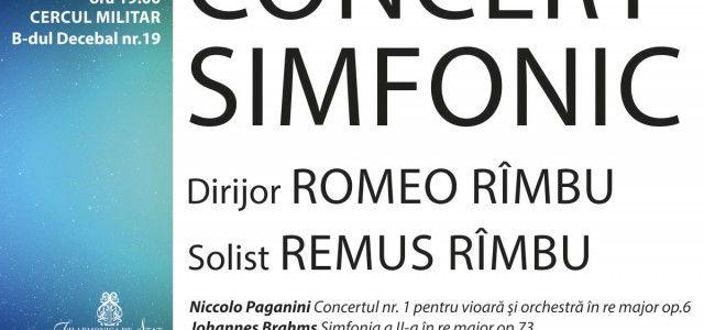 CONCERT SIMFONIC DEDICAT CREATIILOR SEMNATE PAGANINI SI BRAHMS
