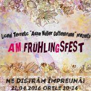 """Liceul German îşi deschide porţile pentru a patra ediţie a festivalului """"AM FrühlinGsfest"""""""