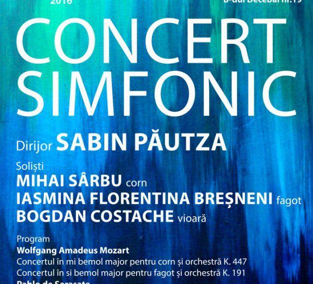 Seara simfonică, sub bagheta maestrului Sabin Păutza