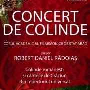 Filarmonica arădeană invită arădenii la tradiționalul Concert de Colinde