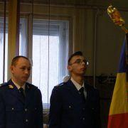 Doi subofițeri au depus jurământul militar la Inspectoratul de Jandarmerie din Arad
