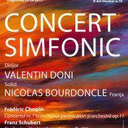 Concert simfonic, cu lucrări de Chopin și Schubert