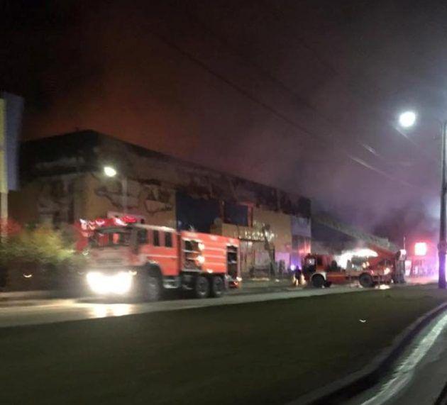 Un incendiu  a izbucnit la Gemi Center, în această noapte (VIDEO)
