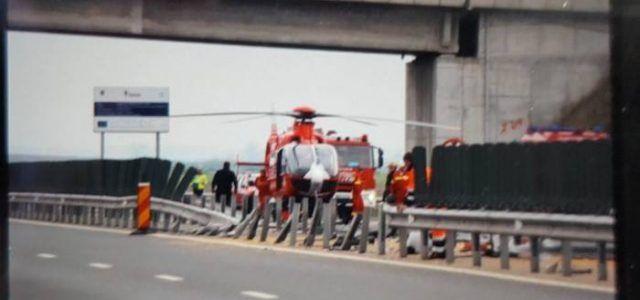 Accident grav pe autostrada Pecica-Arad