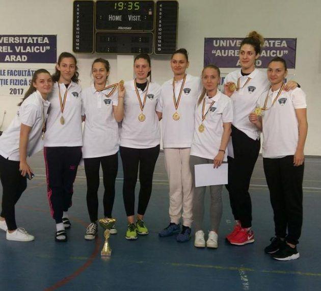 Rușinos! Universitarele de baschet fete la Arad, fără… Arad!