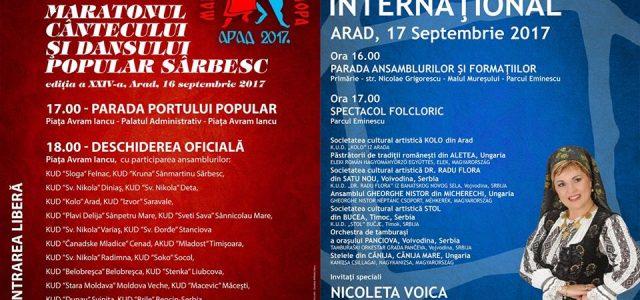 Maratonul cântecului şi dansului popular sârbesc, în Piaţa Avram Iancu