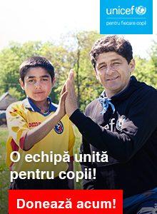 FRF și UNICEF: Împreună, o echipă pentru copii!