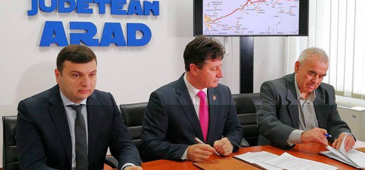 S-a semnat contractul de proiectare tehnică pentru modernizarea drumului Arad-Buteni. Execuția proprie va începe abia peste un an!