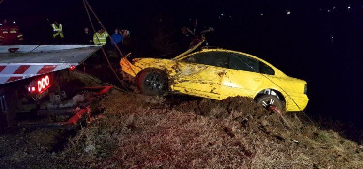 O persoană a plonjat cu mașina în lacul Ghioroc, se cercetează cauzele!
