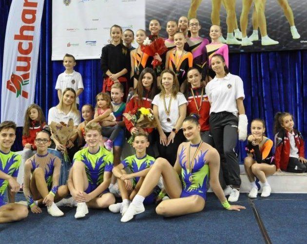 Succese arădene la Naţionalele de gimnastică aerobică