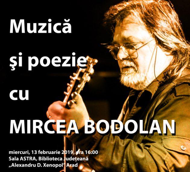 Eveniment cultural Mircea Bodolan la Biblioteca Arad