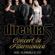 Direcția 5 concertează la Filarmonica de Stat din Arad, în 9 octombrie