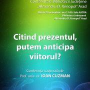 Prof.univ.dr Ioan Cuzman va susține o conferință la Biblioteca Județeană Arad