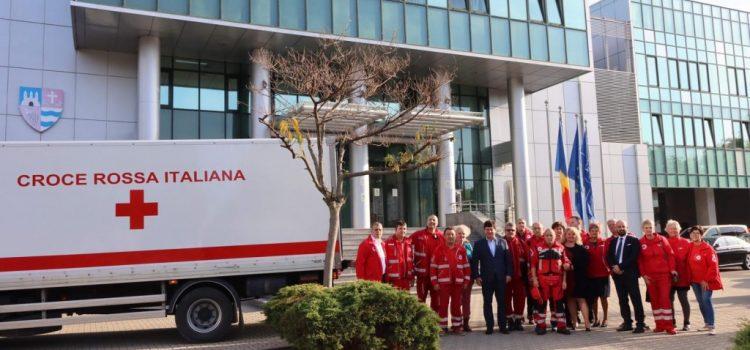 O delegaţie a filialei de Cruce Roşie din Sassuolo-Modena, în vizită la CJA