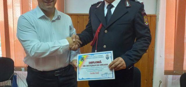 Pompierul Iosif Herbei a primit titlul de cetățean de onoare al comunei Ghioroc