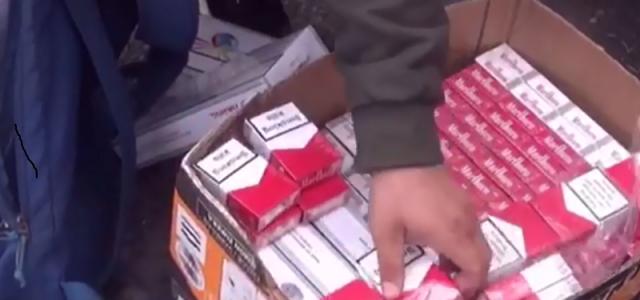 Un tânăr a fost prins cu țigări netimbrate în Piața Fortuna