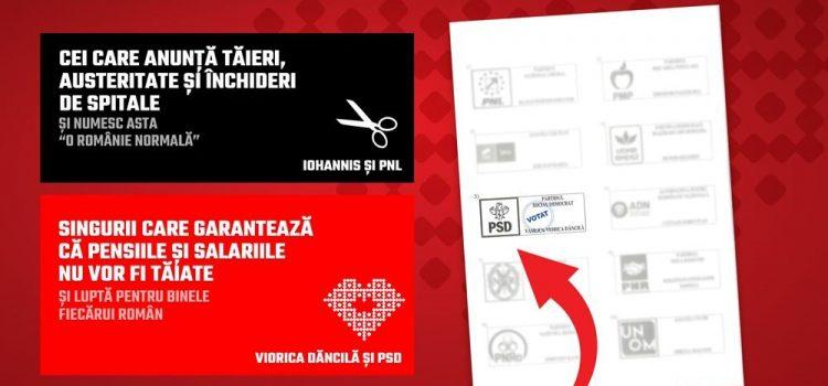 Românii votează cu inima, românii votează Viorica Dăncilă!