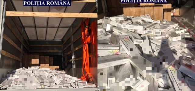 Percheziții la Munar. Peste 550.000 de țigarete de contrabandă, arme și muniție, confiscate de polițiști