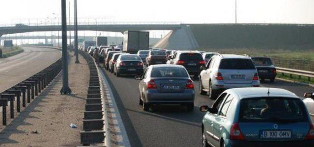 Trafic blocat pe autostrada Deva-Arad, din cauza unui accident