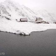 Zăpadă de 22 de centimetri la Bâlea Lac, în această dimineață