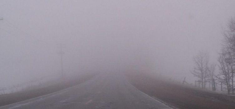 Mai multe localități din Arad, sub Cod galben de ceață densă
