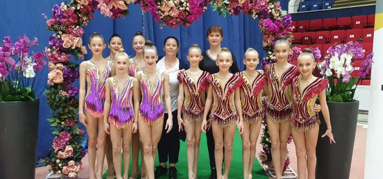 Salbă de medalii pentru gimnastele arădene, la ritmică