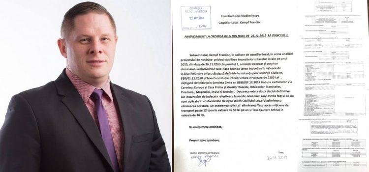 Primarul Crișan și echipa PNL Vladimirescu au majorat, pentru al doilea an consecutiv, taxele și impozitele locale