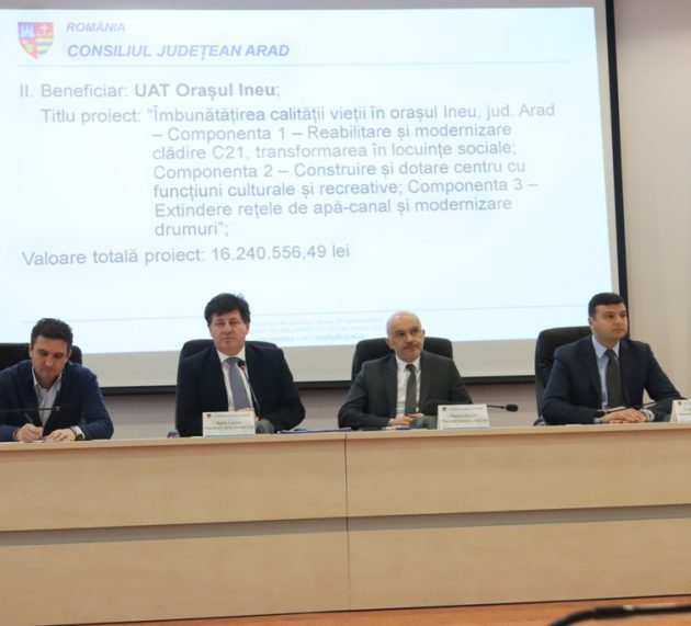 Proiecte de dezvoltare în valoare de 40 de milioane de euro intră în finanțare în județul Arad!