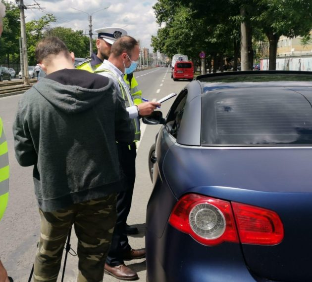 Timp de două ore, astăzi, Poliția Rutieră a organizat o acțiune de control