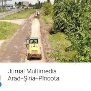 Consiliul Județean Arad a deschis un jurnal multimedia on-line pentru un drum județean în lucru!