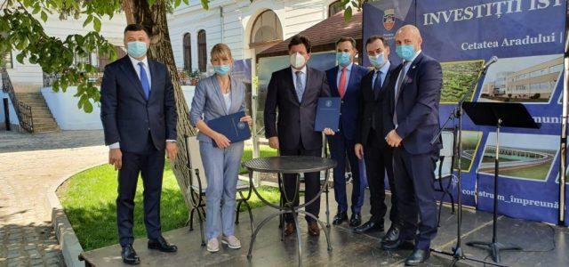 CJA și CNAIR au semnat protocolul pentru realizarea ultimului tronson din șoseaua de centură a Aradului