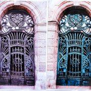Poarta cu păuni de pe Bulevardul Revoluţiei 84-86 va fi recondiţionată în parteneriat de societatea civilă