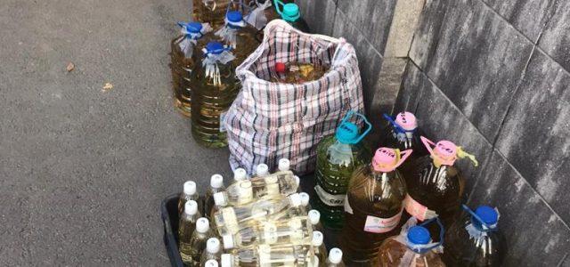 Jandarmii au confiscat peste 130 de litri de alcool într-o acțiune desfășurată în piețele din Arad