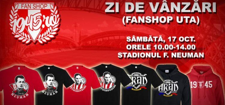 Fanshop UTA anunţă o nouă zi de vânzări la stadion, în paralel cu distribuirea abonamentelor