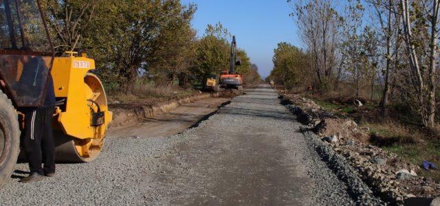 Vremea permite reluarea lucrărilor la drumul Arad-Șiria