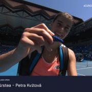 Sorana Cîrstea trece de una dintre favoritele turneului, Petra Kvitova