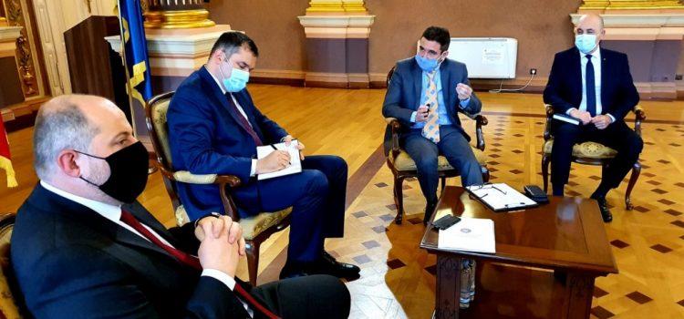 Primarul Călin Bibarț s-a întâlnit cu ministrul dezvoltării