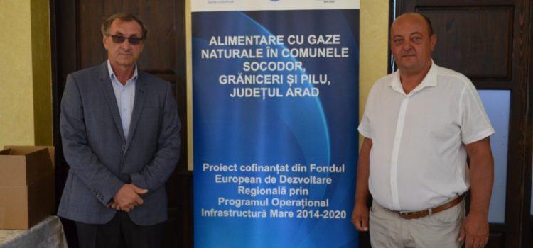 Comunele Socodor, Grăniceri și Pilu au semnat contractul de alimentare cu gaze naturale