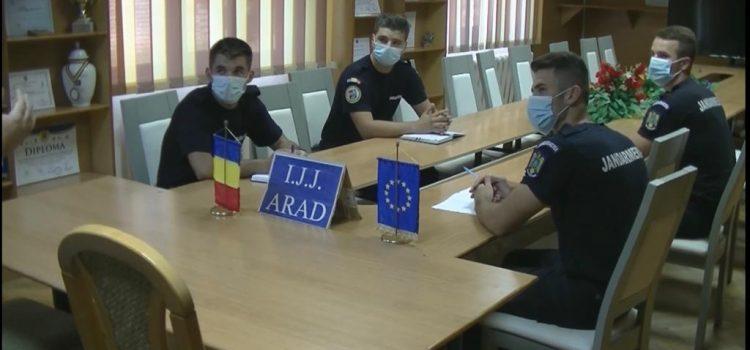 Patru elevi ai Școlilor Militare de Subofițeri Jandarmi au început stagiul de practică la Jandarmeria Arad
