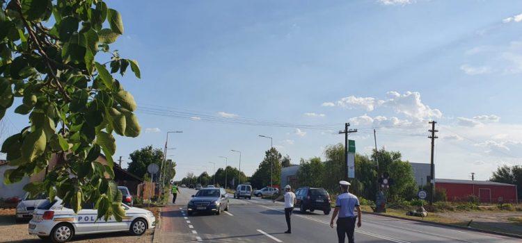 Ieri, polițiștii au avut acțiuni de verificare rutieră și feroviară pe raza Aradului