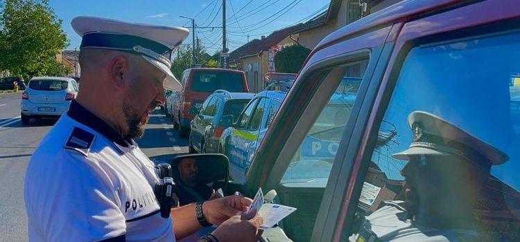 Acțiunea de sâmbătă a poliției rutiere a lăsat mai mulți șoferi fără carnet